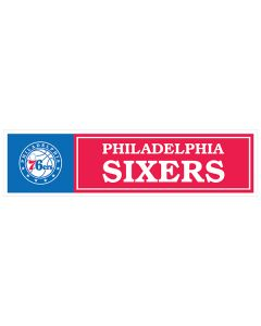 "NBA Philadelphia 76ers 11"" x 3"" Bumper Sticker"
