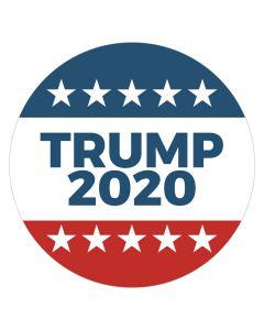 """Trump 2020 Stars 4"""" x 4"""" Bumper Sticker"""