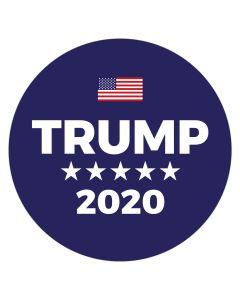 """Trump 2020 Blue 4"""" x 4"""" Bumper Sticker"""