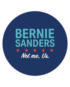 "Bernie Sanders Not Me Us 4"" x 4"" Bumper Sticker"