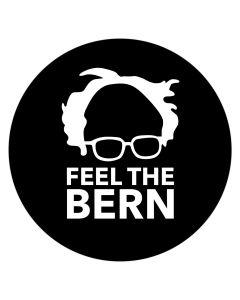 "Feel The Bern Silhouette 4"" x 4"" Bumper Sticker"