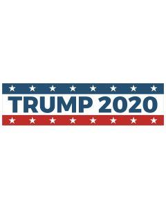 """Trump 2020 Stars 11"""" x 3"""" Bumper Sticker"""