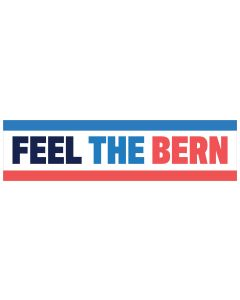 "Feel The Bern 11"" x 3"" Bumper Sticker"
