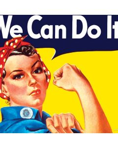 Rosie The Riveter Vintage War Poster Generic Laptop Skin