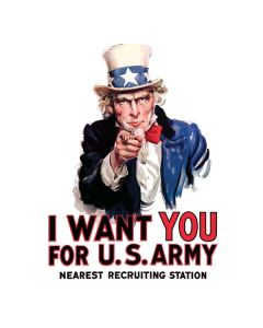 Uncle Sam Vintage War Poster Generic Laptop Skin
