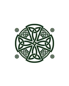 Celtic Cross on White Generic Laptop Skin