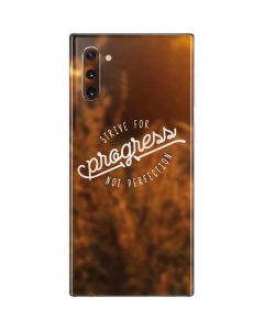 Strive For Progress Not Perfection Galaxy Note 10 Skin