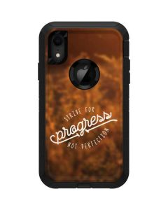 Strive For Progress Not Perfection Otterbox Defender iPhone Skin
