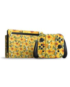 Sunflowers Nintendo Switch Bundle Skin