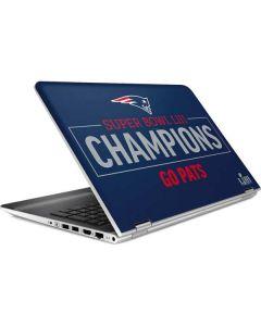 Super Bowl LIII Champions Go Pats HP Pavilion Skin