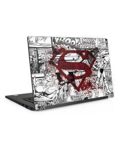 Superman Comic Logo in Red Dell Latitude Skin