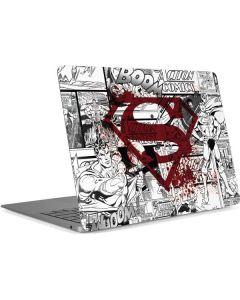 Superman Comic Logo in Red Apple MacBook Air Skin