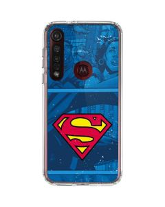 Superman Logo Moto G8 Plus Clear Case