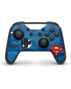 Superman Logo Nintendo Switch Pro Controller Skin