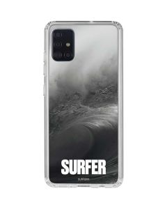 SURFER Black and White Wave Galaxy A51 Clear Case