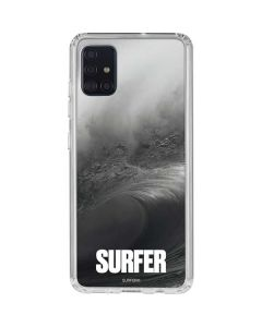 SURFER Black and White Wave Galaxy A71 Clear Case