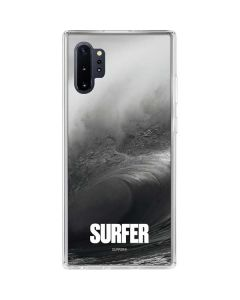 SURFER Black and White Wave Galaxy Note 10 Plus Clear Case