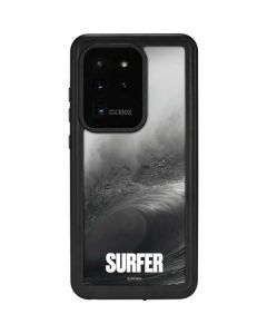SURFER Black and White Wave Galaxy S20 Ultra 5G Waterproof Case