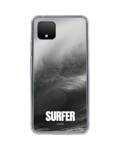 SURFER Black and White Wave Google Pixel 4 XL Clear Case