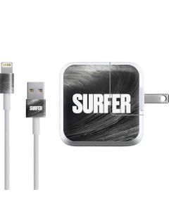 SURFER Black and White Wave iPad Charger (10W USB) Skin