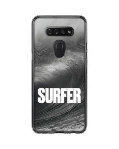 SURFER Black and White Wave LG K51/Q51 Clear Case
