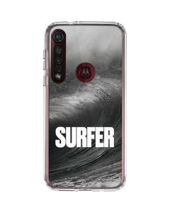 SURFER Black and White Wave Moto G8 Plus Clear Case