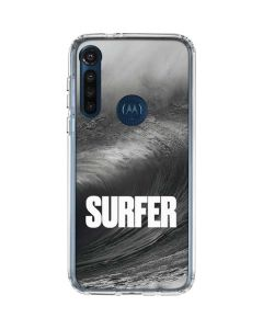 SURFER Black and White Wave Moto G8 Power Clear Case