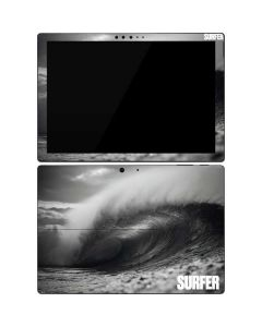 SURFER Black and White Wave Surface Pro 7 Skin