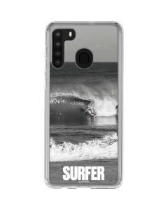 SURFER Magazine Black and White Galaxy A21 Clear Case