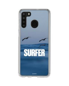 SURFER Magazine Pelicans Galaxy A21 Clear Case