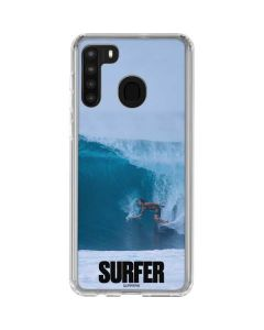 SURFER Magazine Riding A Wave Galaxy A21 Clear Case