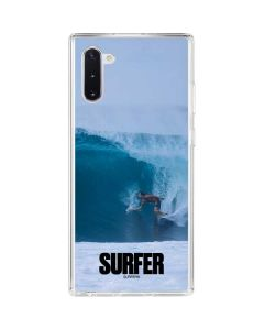 SURFER Magazine Riding A Wave Galaxy Note 10 Clear Case