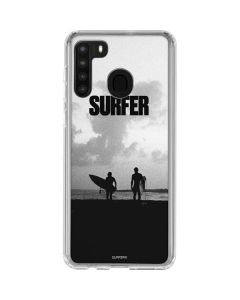 SURFER Magazine Silhouettes Galaxy A21 Clear Case
