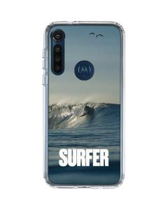 SURFER Waiting On A Wave Moto G8 Power Clear Case