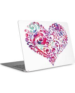 Swirly Heart Apple MacBook Air Skin