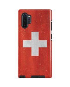 Switzerland Flag Distressed Galaxy Note 10 Plus Pro Case