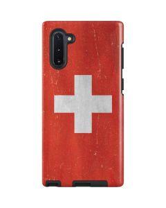 Switzerland Flag Distressed Galaxy Note 10 Pro Case