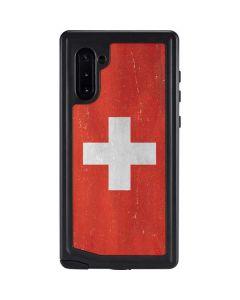 Switzerland Flag Distressed Galaxy Note 10 Waterproof Case