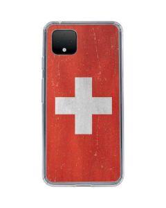 Switzerland Flag Distressed Google Pixel 4 Clear Case