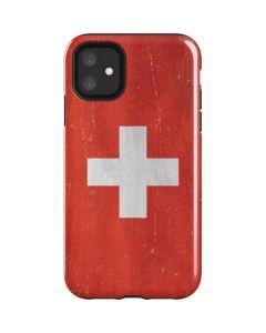 Switzerland Flag Distressed iPhone 11 Impact Case
