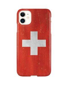 Switzerland Flag Distressed iPhone 11 Lite Case