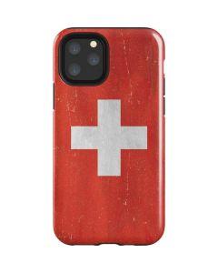 Switzerland Flag Distressed iPhone 11 Pro Impact Case