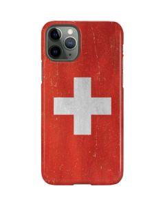 Switzerland Flag Distressed iPhone 11 Pro Lite Case