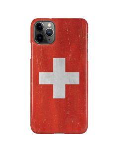 Switzerland Flag Distressed iPhone 11 Pro Max Lite Case