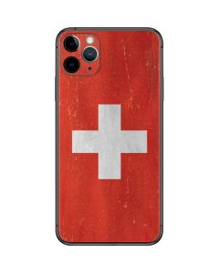Switzerland Flag Distressed iPhone 11 Pro Max Skin