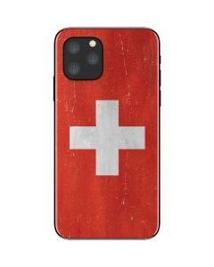 Switzerland Flag Distressed iPhone 11 Pro Skin