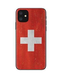 Switzerland Flag Distressed iPhone 11 Skin