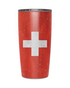 Switzerland Flag Distressed Yeti 20oz Tumbler Skin