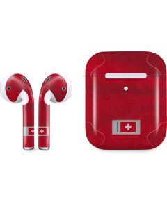 Switzerland Soccer Flag Apple AirPods 2 Skin