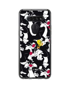 Sylvester and Tweety Super Sized LG K51/Q51 Clear Case